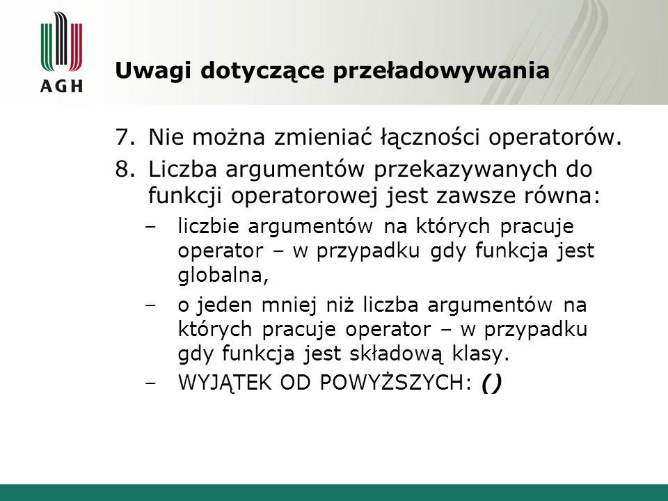 Uwagi dotyczące przeładowywania 7.Nie można zmieniać łączności operatorów.
