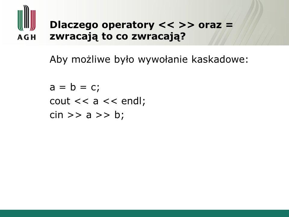 Dlaczego operatory > oraz = zwracają to co zwracają.