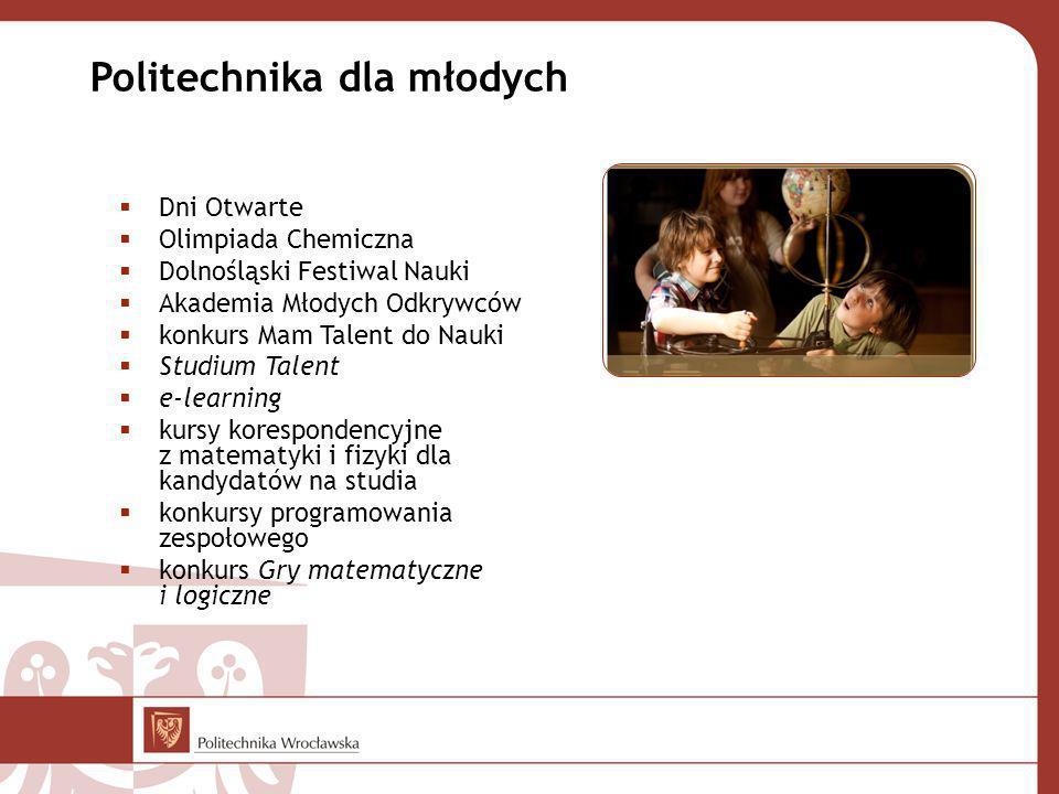 Dni Otwarte Olimpiada Chemiczna Dolnośląski Festiwal Nauki Akademia Młodych Odkrywców konkurs Mam Talent do Nauki Studium Talent e-learning kursy kore