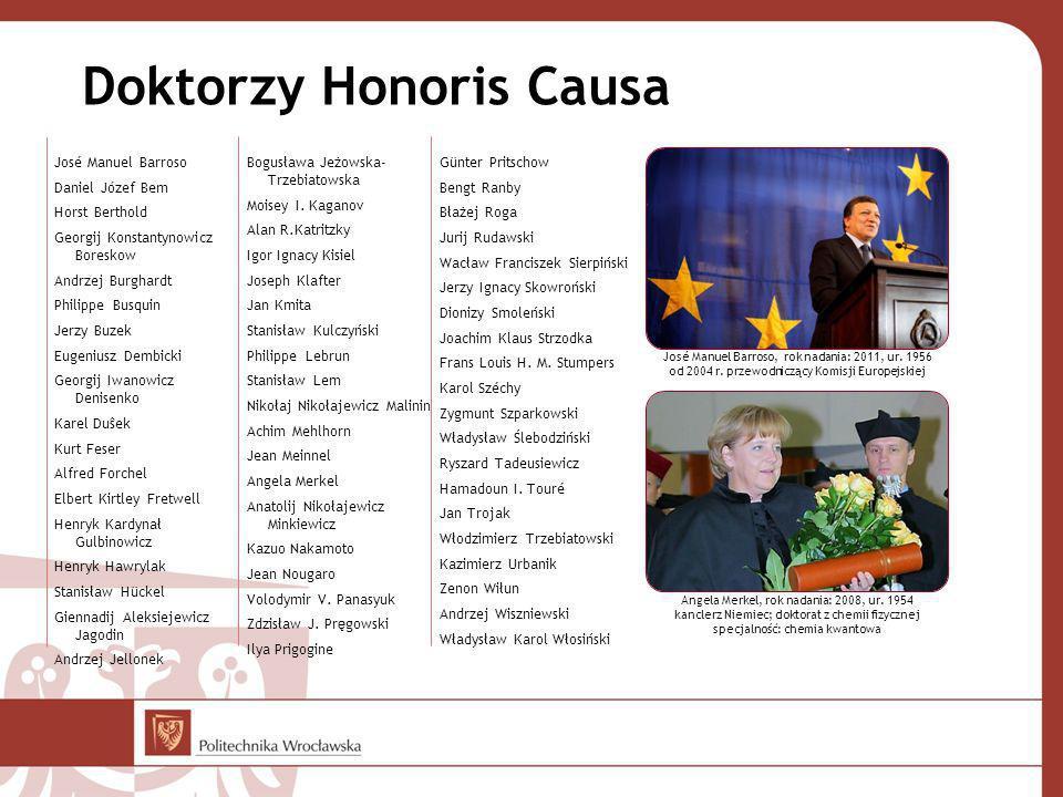 Doktorzy Honoris Causa José Manuel Barroso Daniel Józef Bem Horst Berthold Georgij Konstantynowicz Boreskow Andrzej Burghardt Philippe Busquin Jerzy B