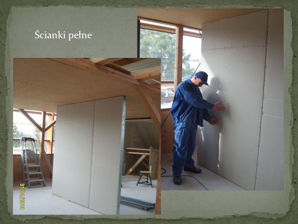 Wykonywanie ścianek z otworami