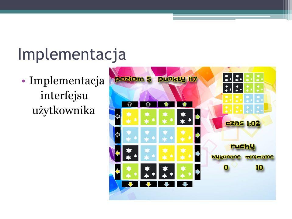 Implementacja interfejsu użytkownika