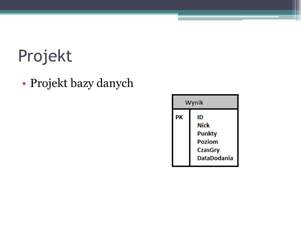 Projekt Projekt interfejsu