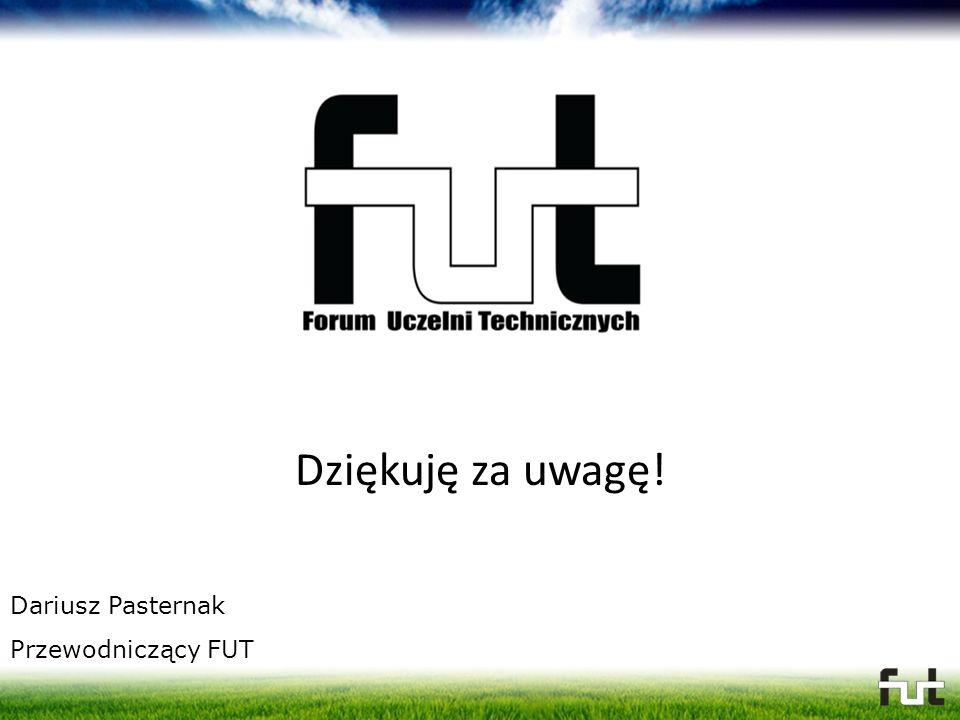 Dziękuję za uwagę! Dariusz Pasternak Przewodniczący FUT
