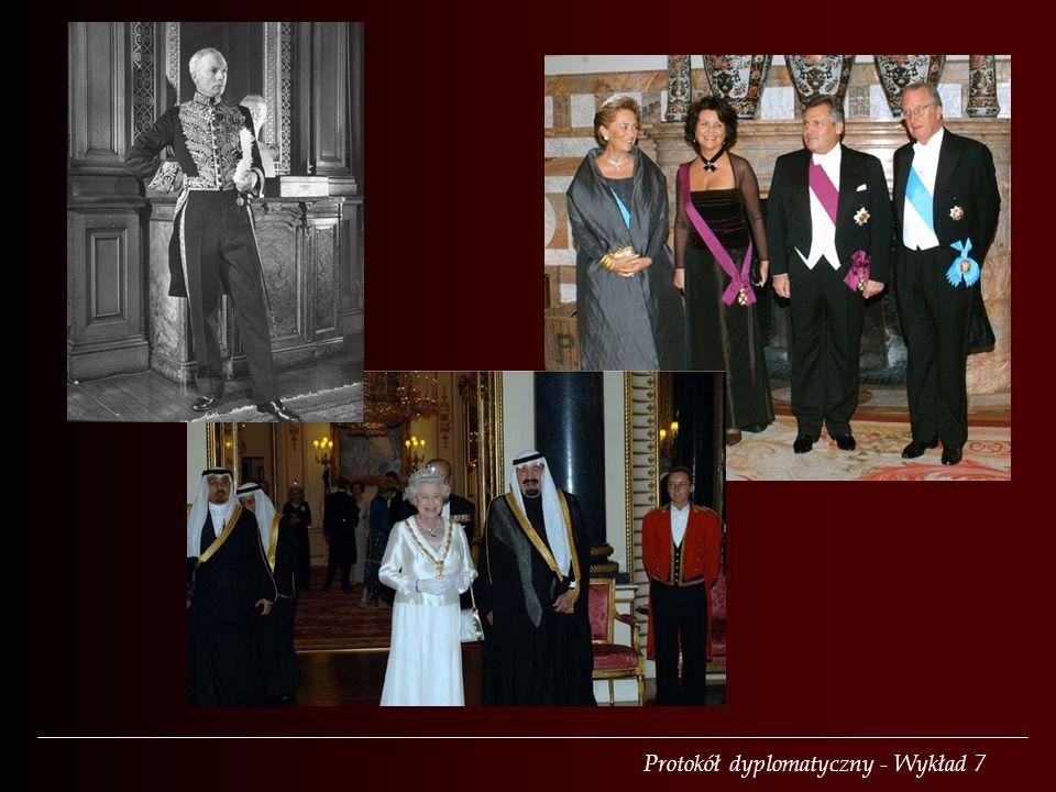 Typy ubiorów Ubranie nieformalne (tenue de ville) Ubranie formalne (tenue de soire) Żakiet Smoking (black tie, cravate noire) Frak (white tie, cravate blanc) Mundur dyplomatyczny
