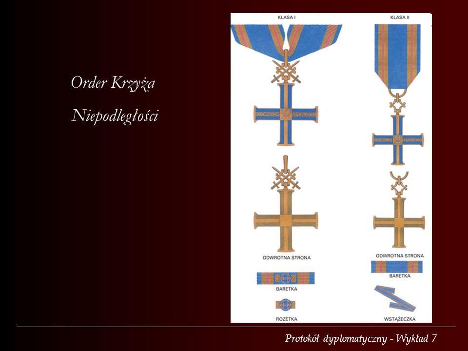 Protokół dyplomatyczny - Wykład 7 Order Krzyża Niepodległości