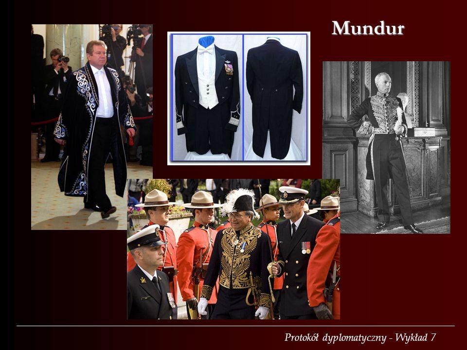 Protokół dyplomatyczny - Wykład 7 Mundur