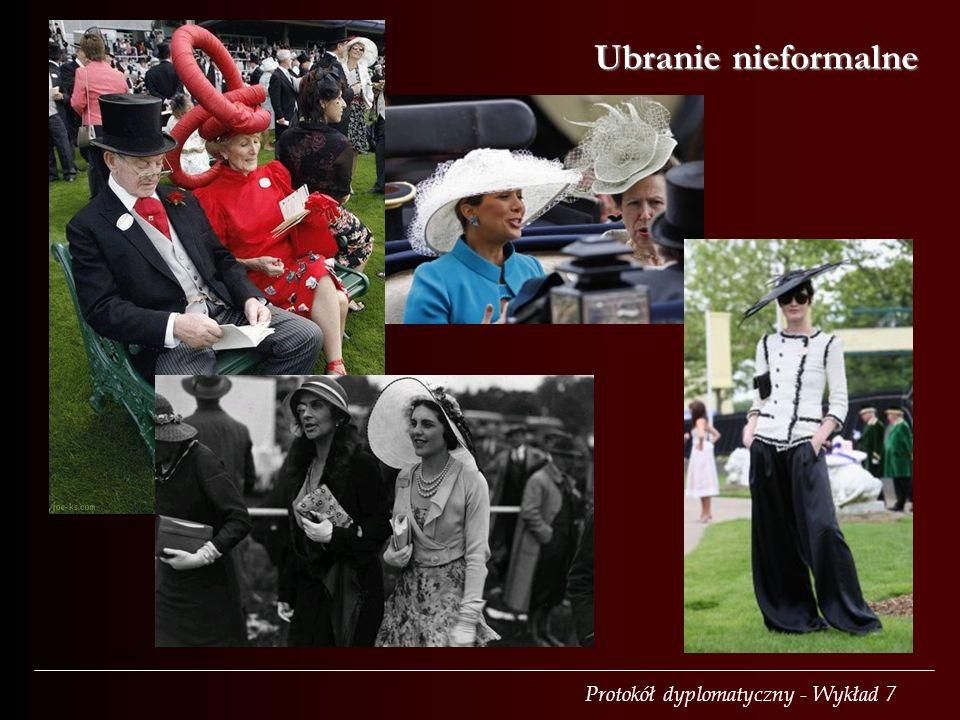Protokół dyplomatyczny - Wykład 7 Ubranie nieformalne