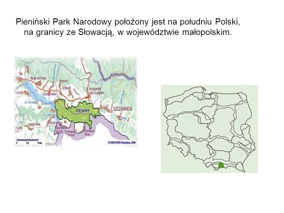 Pieniński Park Narodowy położony jest na południu Polski, na granicy ze Słowacją, w województwie małopolskim.