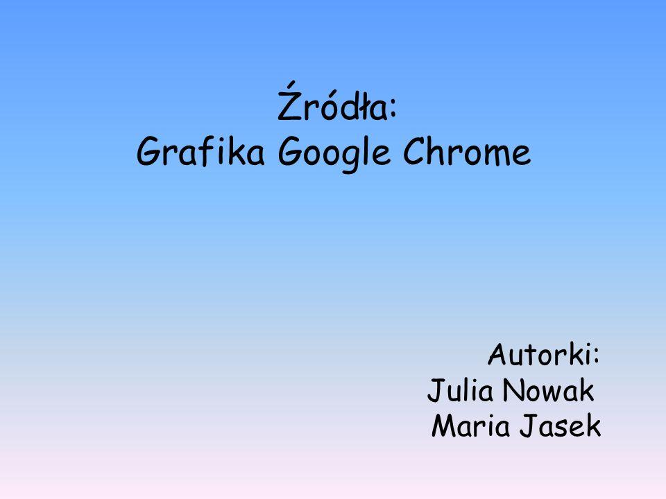 Źródła: Grafika Google Chrome Autorki: Julia Nowak Maria Jasek