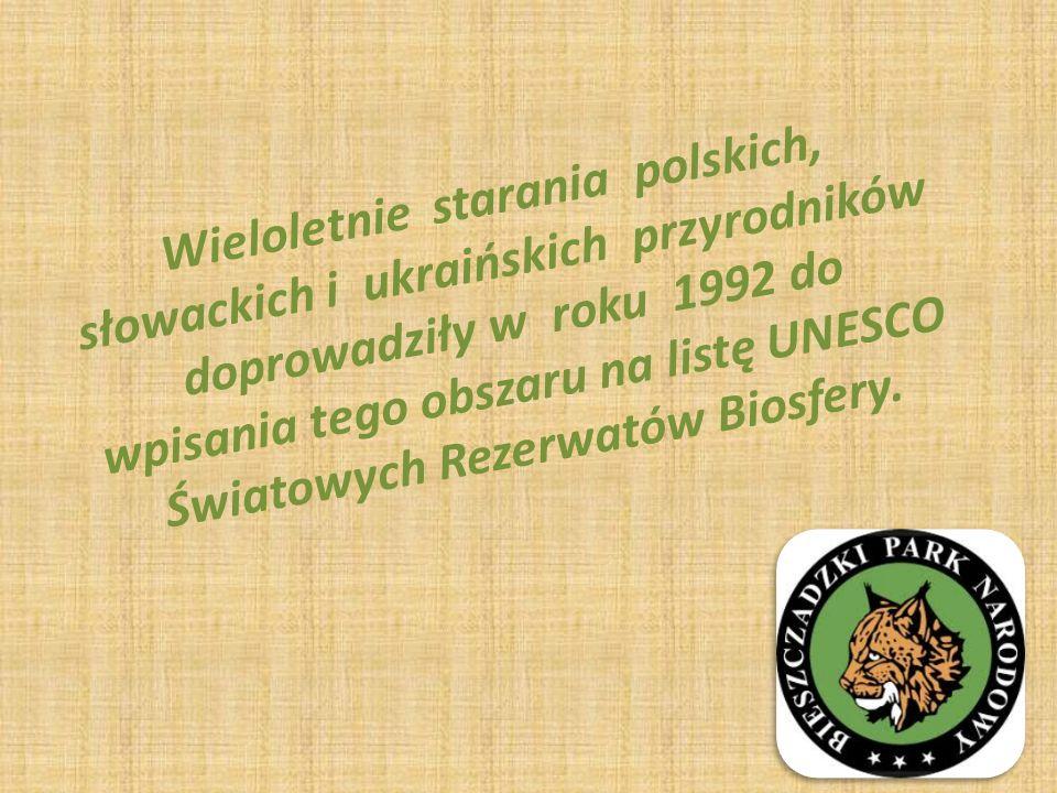 Wieloletnie starania polskich, słowackich i ukraińskich przyrodników doprowadziły w roku 1992 do wpisania tego obszaru na listę UNESCO Światowych Rezerwatów Biosfery.
