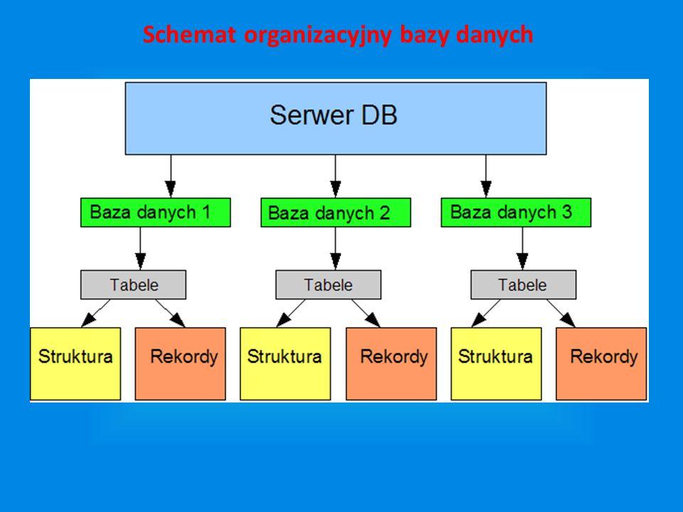 Schemat organizacyjny bazy danych