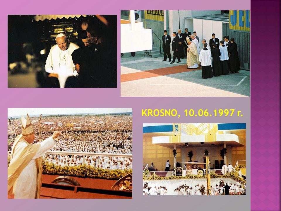 VII pielgrzymka do Ojczyzny była ostatnią wizytą Jana Pawła II na Podkarpaciu, miała miejsce 12 VI 1999 r.
