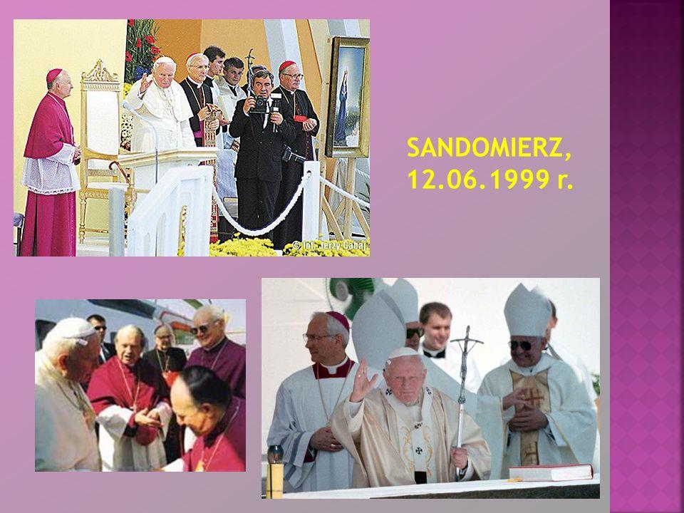 12 czerwca 1999 - Jan Paweł II w Sandomierzu.