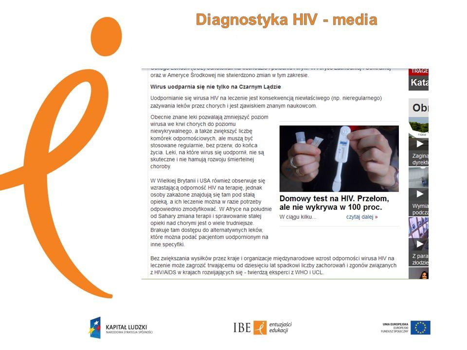 Test na HIV nie wykrywa samego wirusa, nie jest też testem na AIDS.
