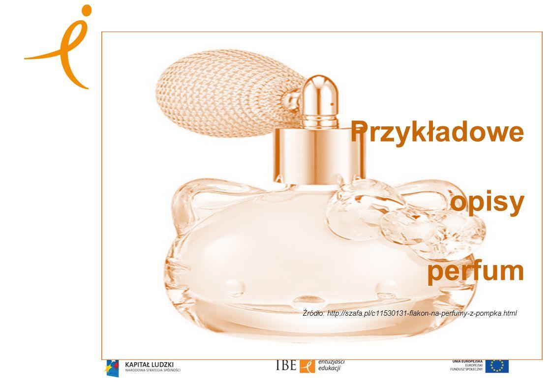 Przykładowe opisy perfum Źródło: http://szafa.pl/c11530131-flakon-na-perfumy-z-pompka.html