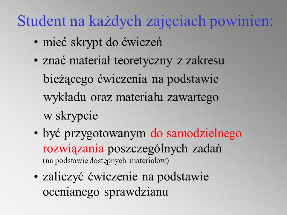 Materiały do laboratorium Skrypt:Wybrane zagadnienia wnioskowania statystycznego z wykorzystaniem pakietu STATGRAPHICS pod redakcją Przemysława Grzegorzewskiego Rozwiązania zadań znajdują się – w katalogu: Informatyka \ Probabilistyka – na stronie internetowej: www2.wt.pw.edu.pl/~bwe Każdy rozdział w skrypcie ma układ – temat ćwiczenia cel ćwiczenia (wprowadzenie) teoria obsługa pakietu zadania rozdziały 1 – 6 są tematami kolejnych ćwiczeń rozdział 7 – wprowadzenie do pracy z pakietem STATGRAPHICS