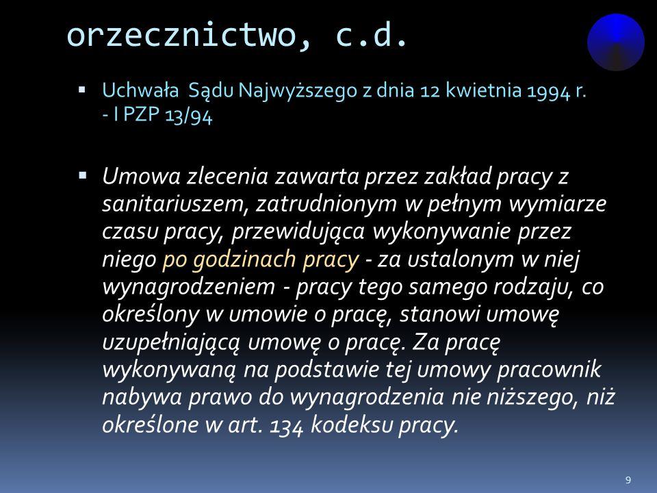 orzecznictwo, c.d.Wyrok Sądu Najwyższego z dnia 16 grudnia 1998 r.
