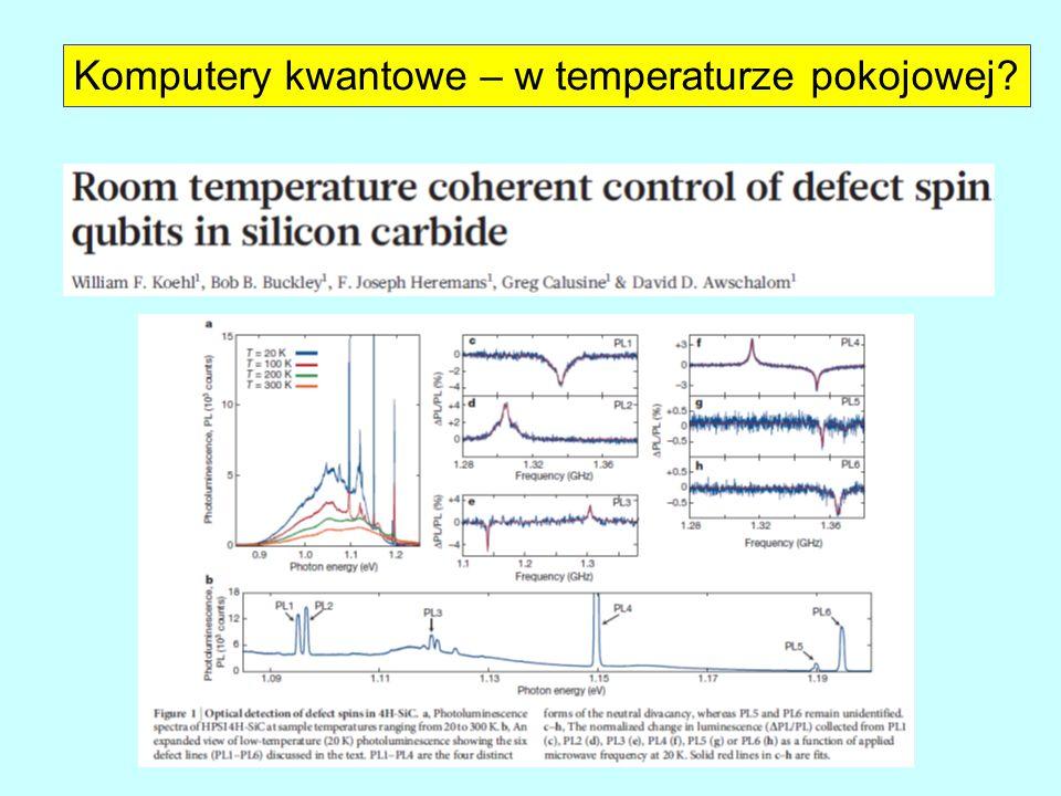 Komputery kwantowe – w temperaturze pokojowej?