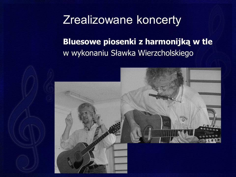 Zrealizowane koncerty Bluesowe piosenki z harmonijką w tle w wykonaniu Sławka Wierzcholskiego