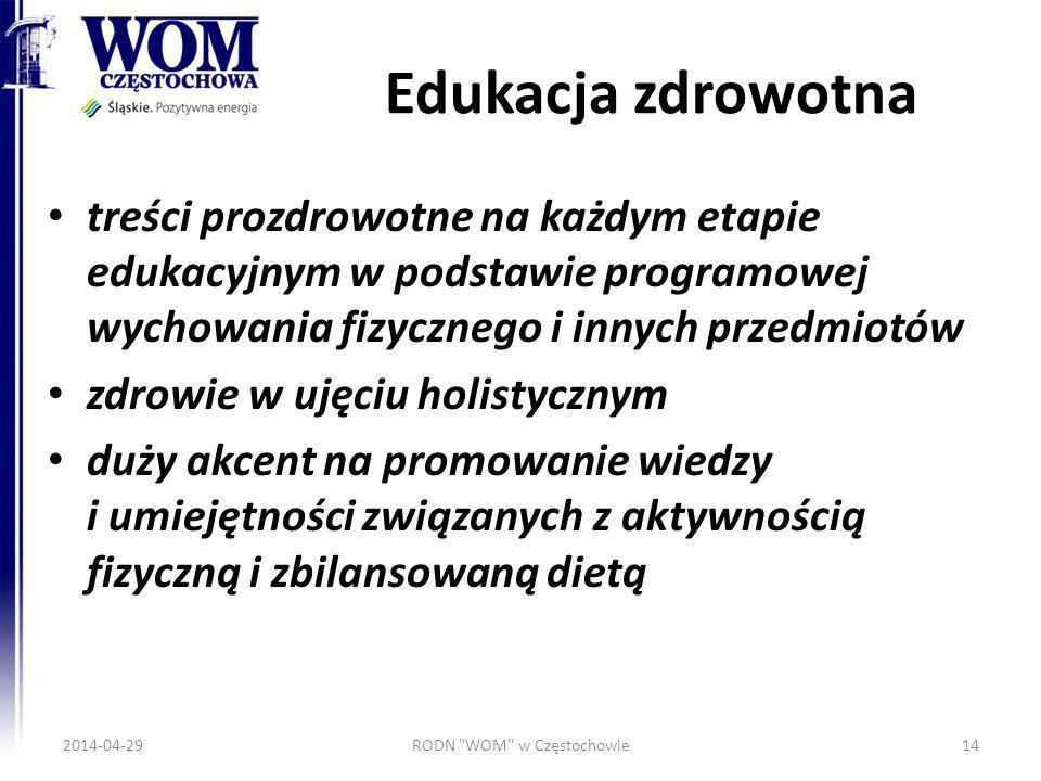 Edukacja zdrowotna treści prozdrowotne na każdym etapie edukacyjnym w podstawie programowej wychowania fizycznego i innych przedmiotów zdrowie w ujęci