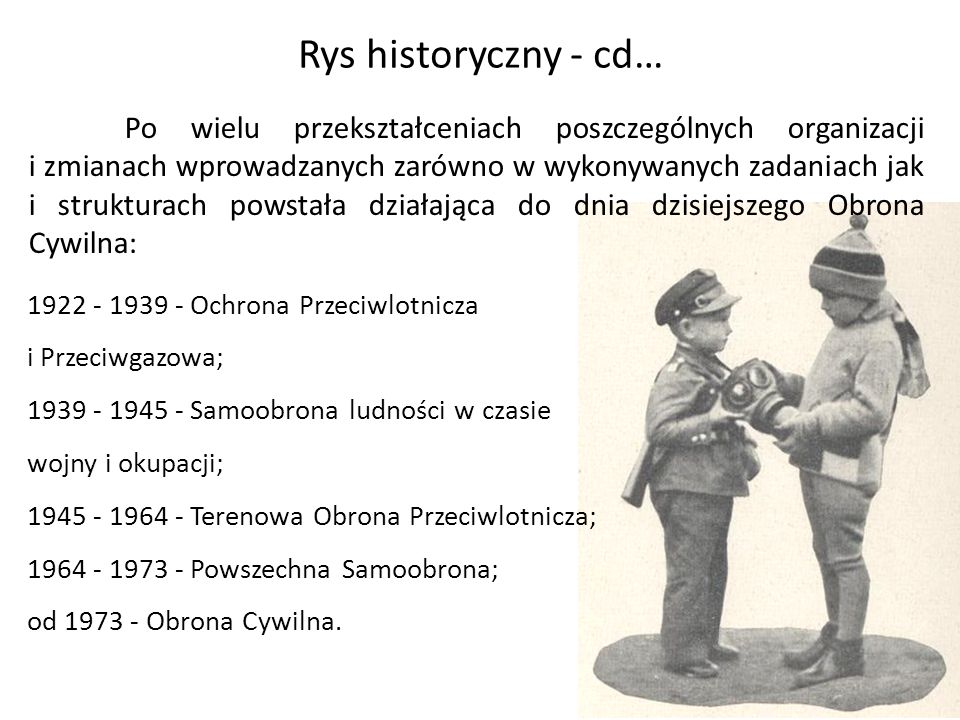 Rys historyczny - cd… Po wielu przekształceniach poszczególnych organizacji i zmianach wprowadzanych zarówno w wykonywanych zadaniach jak i strukturac