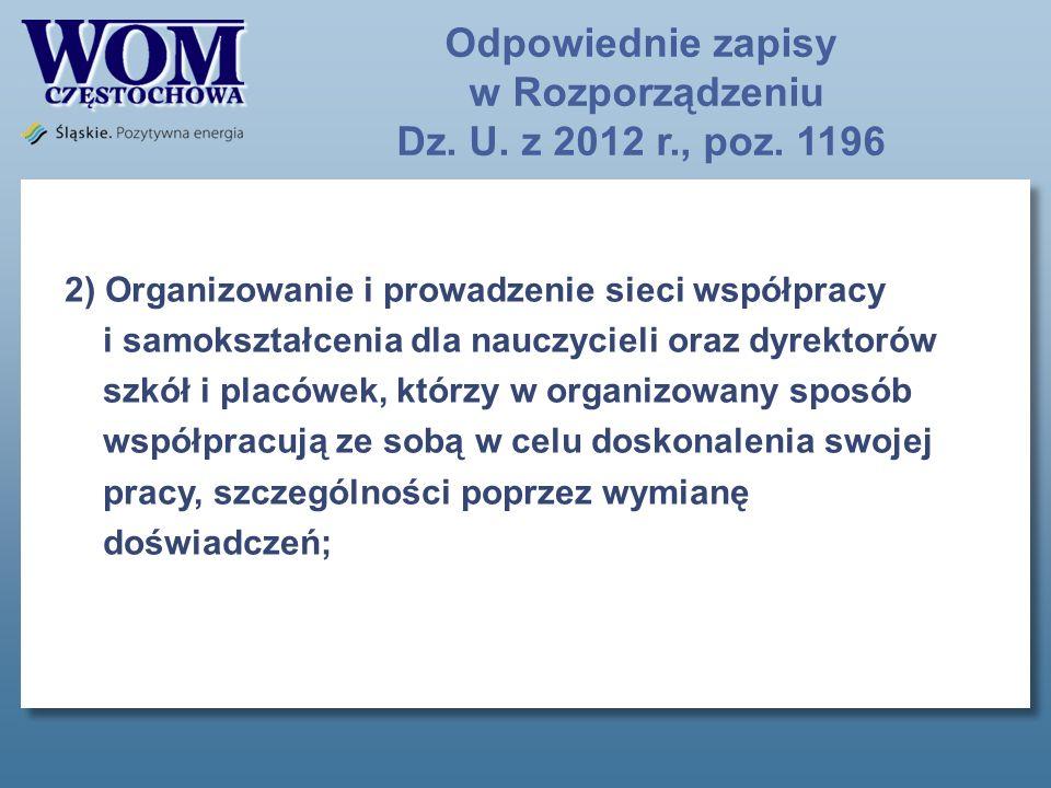 Odpowiednie zapisy w Rozporządzeniu Dz.U. z 2013 r., poz.