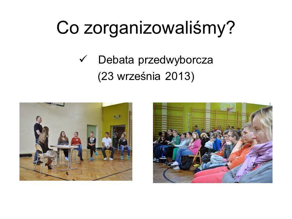 Co zorganizowaliśmy? Debata przedwyborcza (23 września 2013)