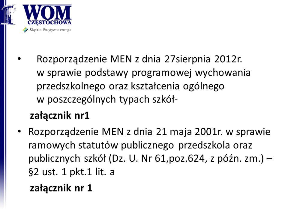 Rozporządzenie MEN z dnia 21.06. 2012r.
