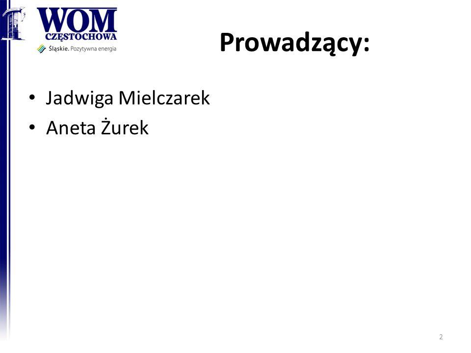 Prowadzący: Jadwiga Mielczarek Aneta Żurek 2
