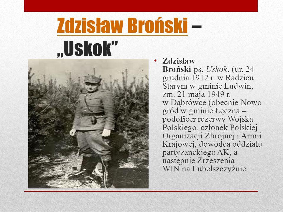 Zdzisław BrońskiZdzisław Broński – Uskok Zdzisław Broński ps.