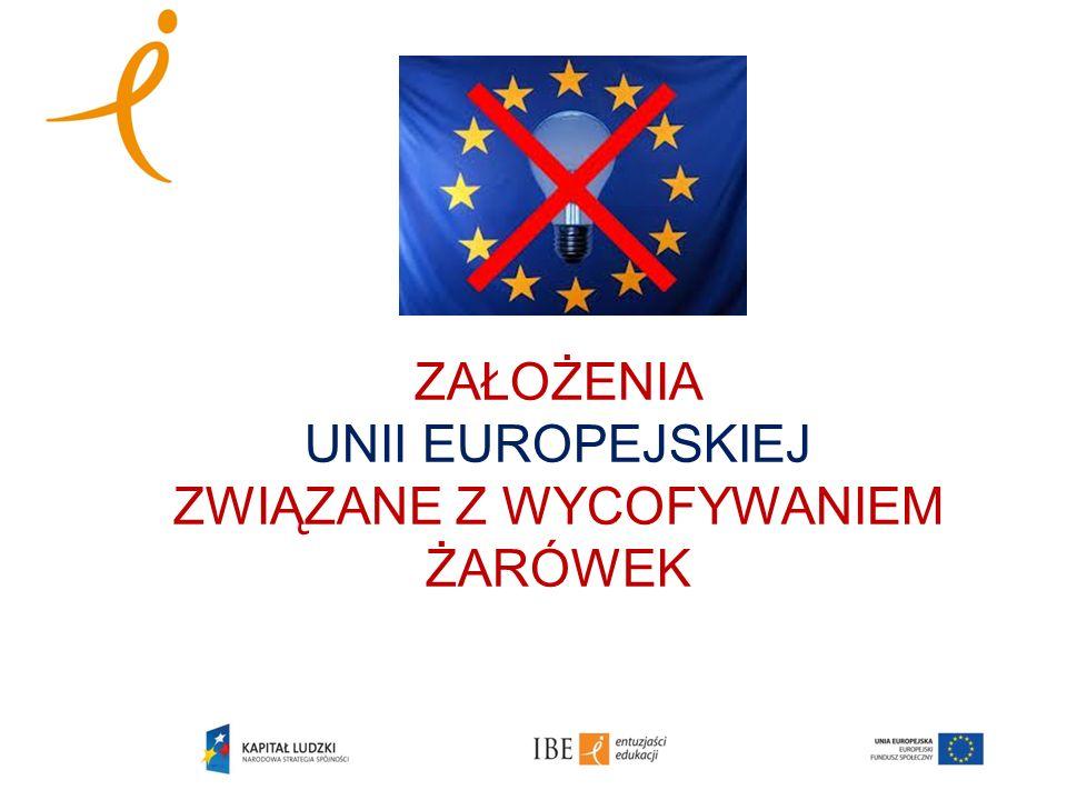 ZAŁOŻENIA UNII EUROPEJSKIEJ ZWIĄZANE Z WYCOFYWANIEM ŻARÓWEK