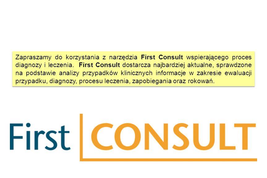 Zapraszamy do korzystania z narzędzia First Consult wspierającego proces diagnozy i leczenia.