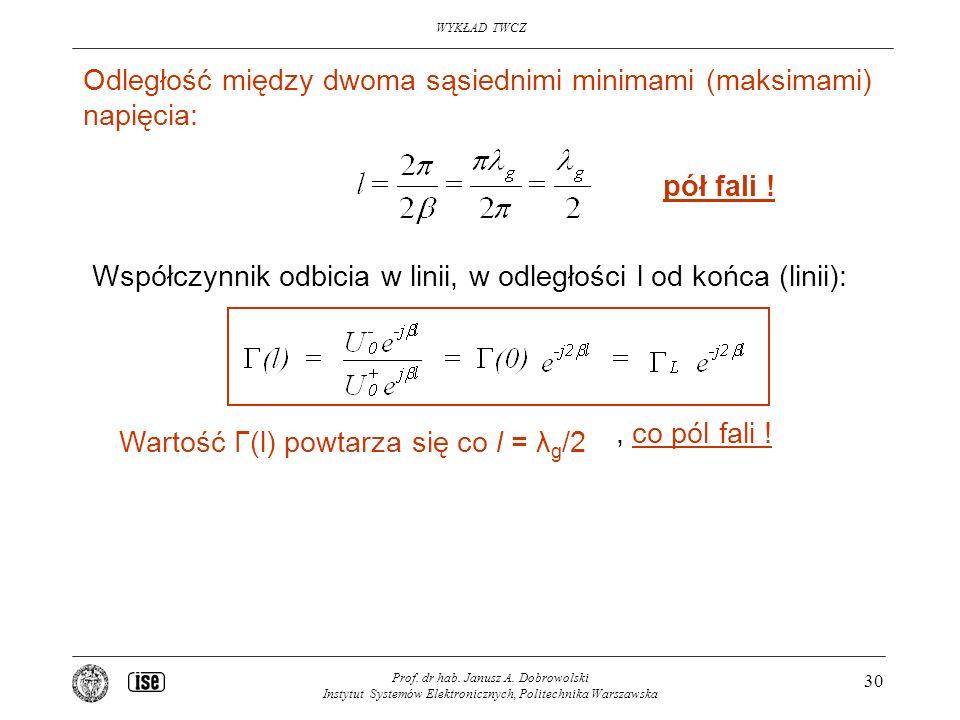 WYKŁAD TWCZ Prof.dr hab. Janusz A.