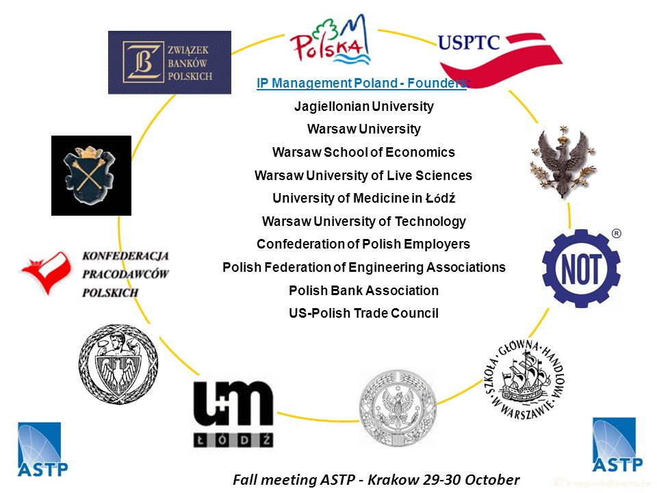 IP Management Poland - Founders: Jagiellonian University Warsaw University Warsaw School of Economics Warsaw University of Live Sciences University of