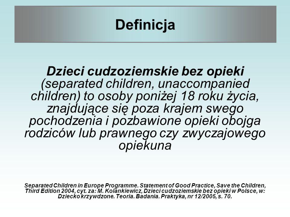 Płeć Wiek Kraj pochodzenia Status prawny Miejsce pobytu Czas pobytu w placówce Dzieci cudzoziemskie bez opieki w Polsce – ogólna charakterystyka