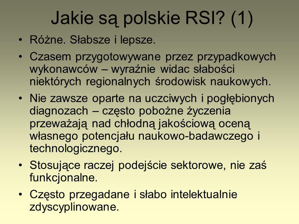 Jakie są polskie RSI. (1) Różne. Słabsze i lepsze.