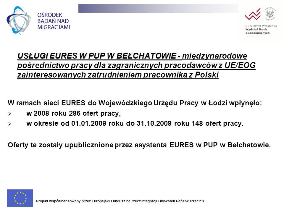 USŁUGI EURES W PUP W BEŁCHATOWIE - USŁUGI EURES W PUP W BEŁCHATOWIE - międzynarodowe pośrednictwo pracy dla zagranicznych pracodawców z UE/EOG zainter