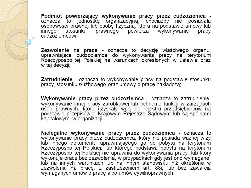 Legalne zatrudnienie a integracja z Polską i Polakami - główne kryteria w opinii cudzoziemców Daje poczucie bezpieczeństwa i przynależności do naszego kraju, a tym samym szacunek i więź, Daje poczucie komfortu bycia,,legalnym, Pozwala mieć ubezpieczenie, co wiąże się z łatwością |i powszechnością korzystania ze wszystkich usług przysługującym Polakom, a przede wszystkim umożliwia cudzoziemcom pobieranie w przyszłości emerytury, Daje możliwość poznawania nowych ludzi i różnych sytuacji Życie w,,obcej społeczności jest łatwiejsze w momencie posiadania legalnego zatrudnienia, Możliwość własnego rozwoju i planowania związania się z Polską, jako krajem stałego pobytu