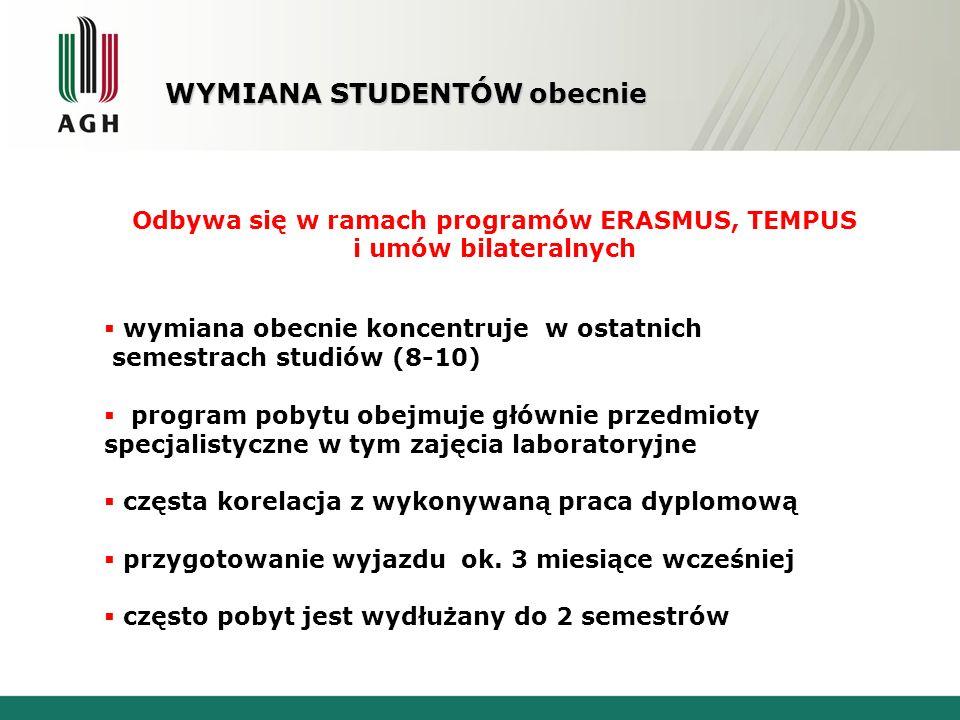 PROBLEMY ORGANIZACYJNE: trudności z wysyłaniem studentów na semestrach rekrutacyjnych i dyplomowych tj.