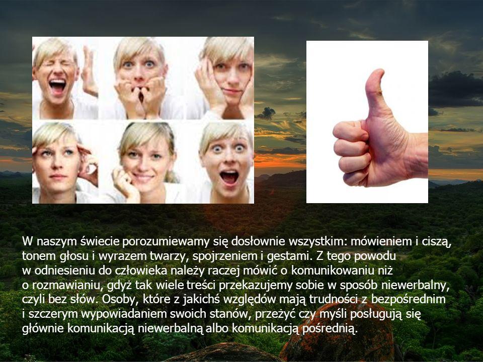 W naszym świecie porozumiewamy się dosłownie wszystkim: mówieniem i ciszą, tonem głosu i wyrazem twarzy, spojrzeniem i gestami.