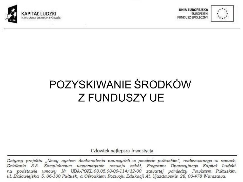 ALOKACJA NA EDUKACJĘ Z FUNDUSZY UE 2014 - 2020 EFS EFRR PO WER 16 PROGRAMÓW REG.