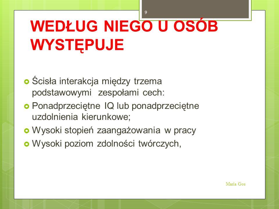 DEFINICJA ZDOLNOŚCI WG J.