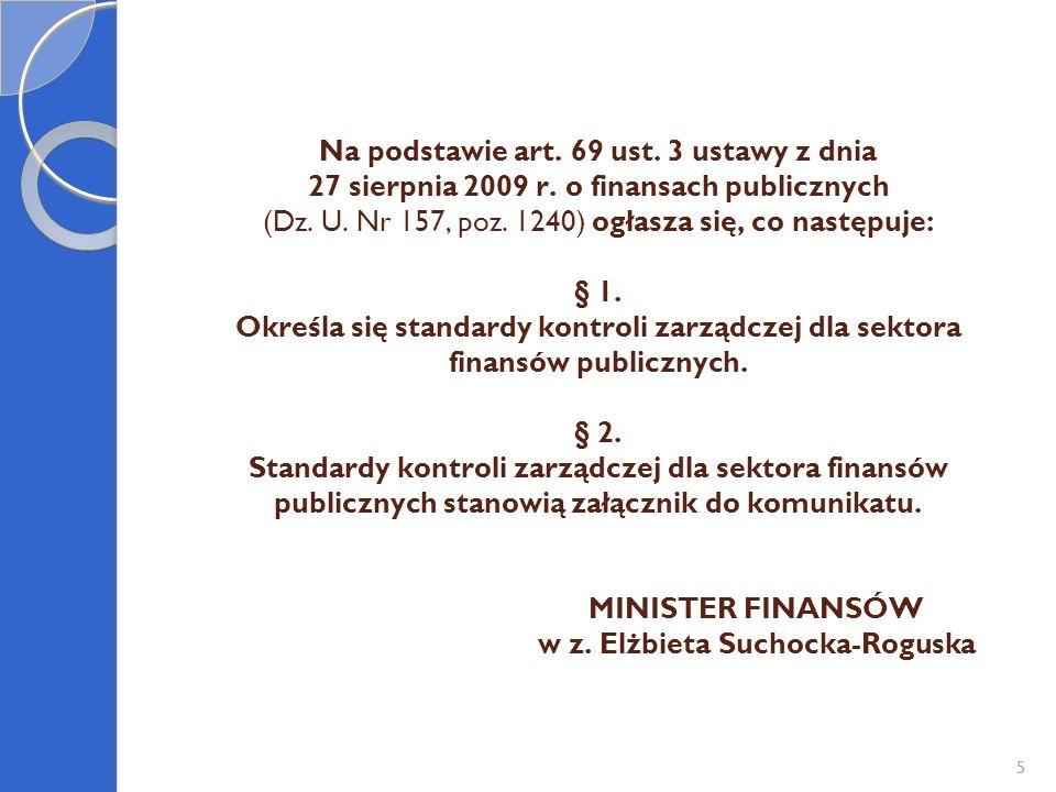 16 SKZ – Dokumenty Systemu Kontroli Zarządczej na Politechnice Śląskiej - stan zaawansowania na dzień 19 maja 2011r.