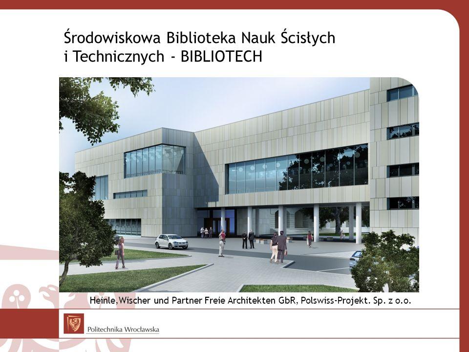 Środowiskowa Biblioteka Nauk Ścisłych i Technicznych - BIBLIOTECH Heinle,Wischer und Partner Freie Architekten GbR, Polswiss-Projekt. Sp. z o.o.