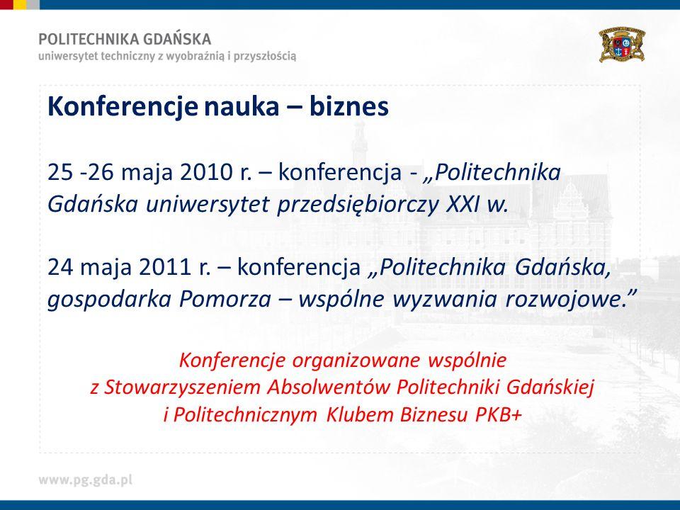 Konferencje nauka – biznes 25 -26 maja 2010 r.