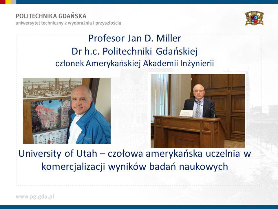 Profesor Jan D.Miller Dr h.c.