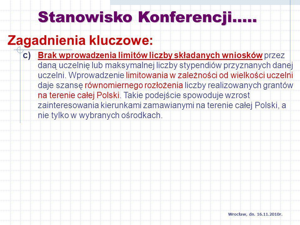 Stanowisko Konferencji….. Wrocław, dn. 16.11.2010r.