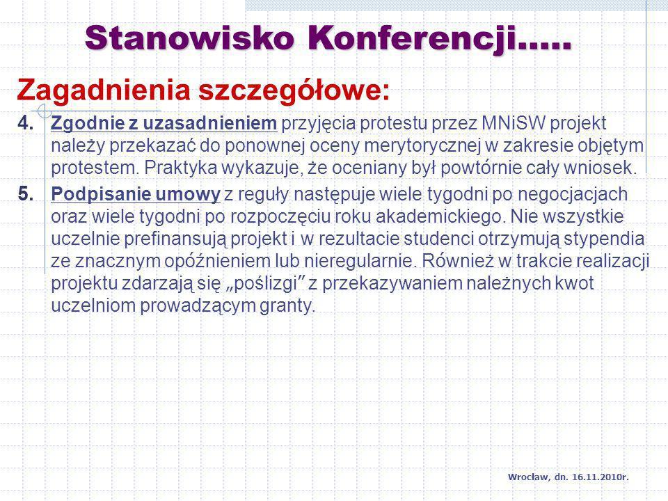 Dziękuję za uwagę Wrocław, dn. 16.11.2010r.
