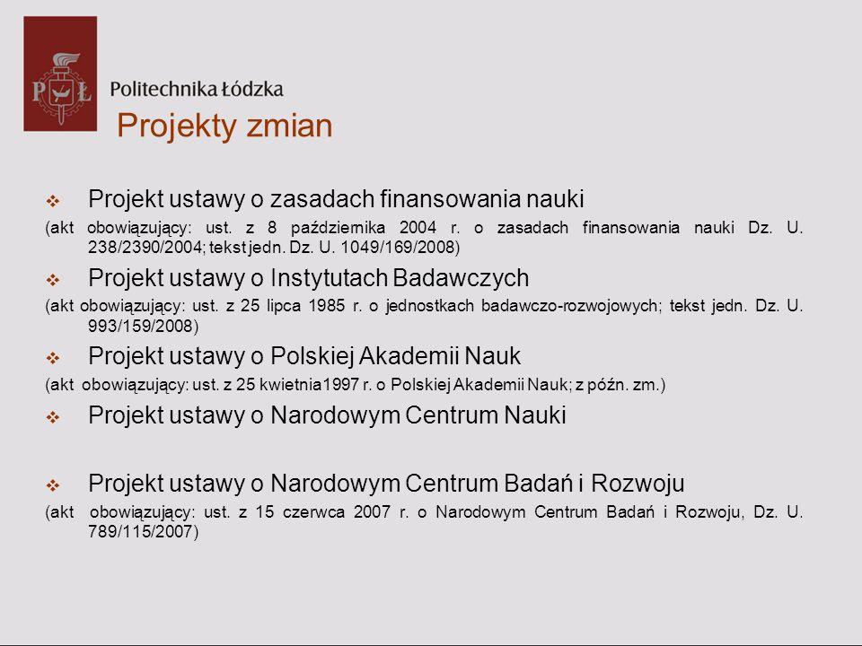 Projekt ustawy o Polskiej Akademii Nauk Enigmatycznie określono zadania samej Akademii (art.